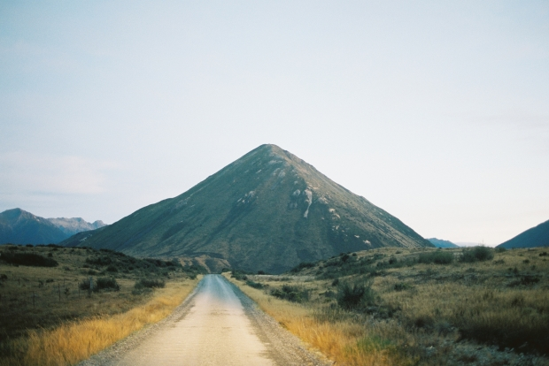 Morning Dirt Road with Pyramid