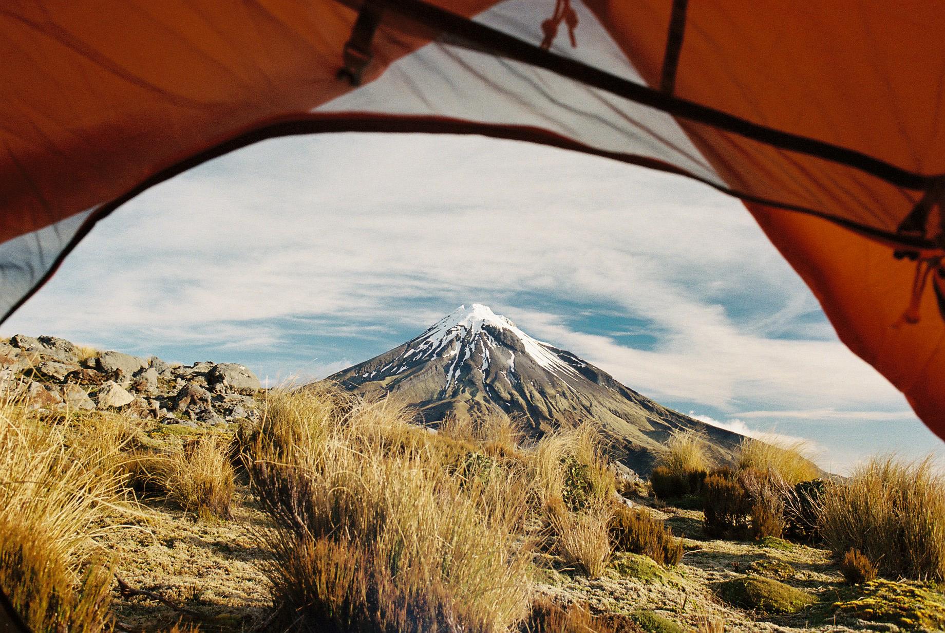 Taranaki from Tent